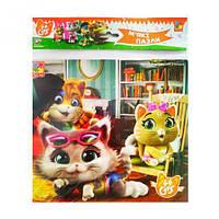 """Развивающие мягкие квадратные пазлы для детей: """"В домике"""" 44 Cats VT1111-04 на украинском языке"""