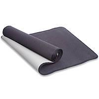 Фитнес-коврик для йоги и фитнеса Yoga Mat TPE 1,83мx0,61мx6мм с кантом (FI-1772), фото 1