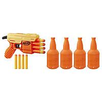 Nerf Бластер Альфа Страйк Фанг QS-4 Набор для стрельбы по мишеням с бластером, E8308, фото 1