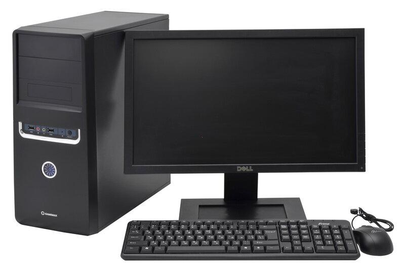 """Компьютер в сборе, Core i7-2600, 4 ядра по 3.40 ГГц, 8 Гб ОЗУ DDR3, HDD 500 Гб, Видеокарта 4 Гб, мон 19"""" 16:9"""