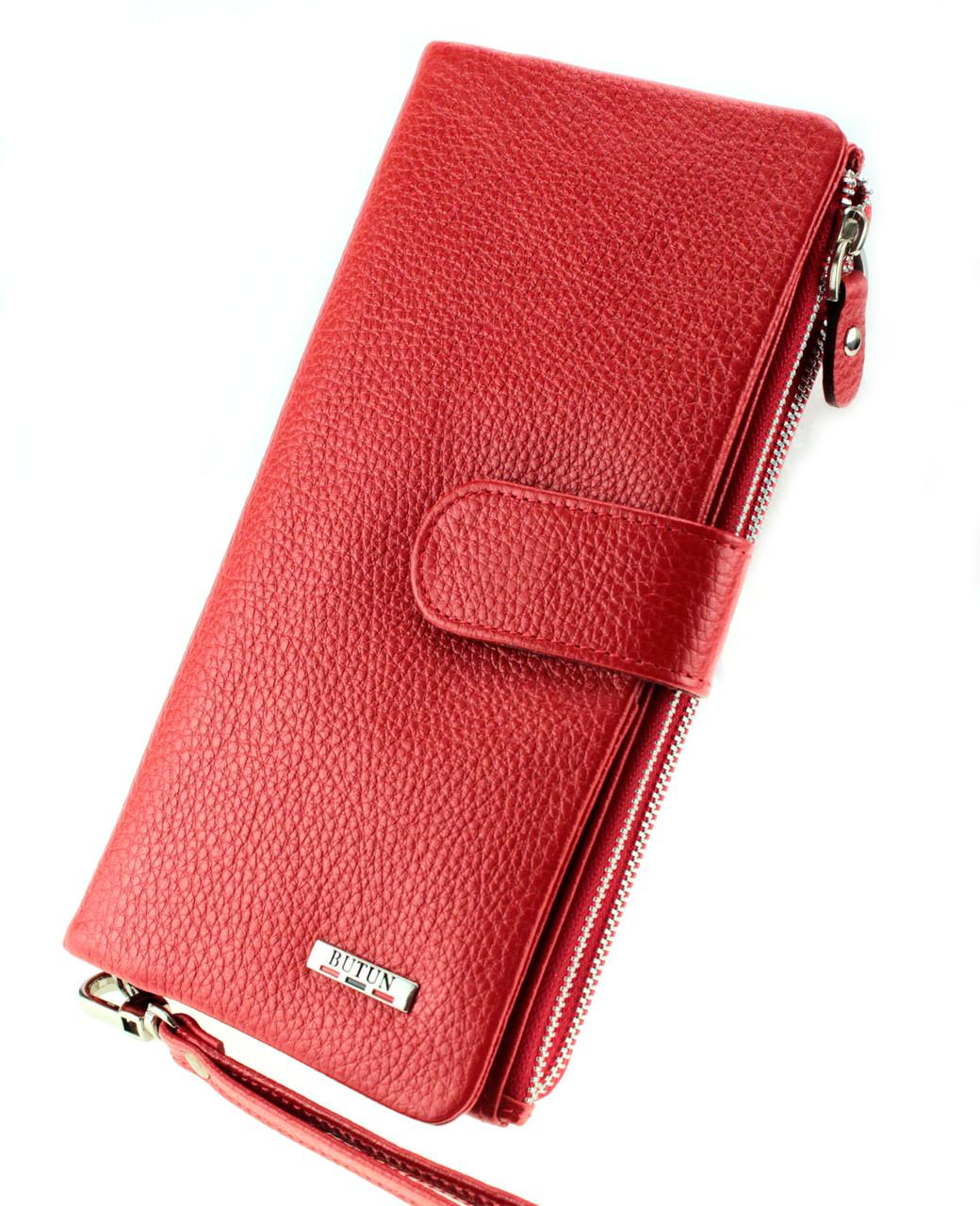 Жіночий клатч шкіряний червоний BUTUN 022-004-006