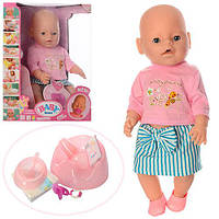 Пупс Baby Born 8006-454 42см,бутылоч,горшок,соска-магн,тарел,ложк,каша,подгузн,разобр,кор,32,5-38-18см