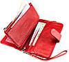 Женский кошелек клатч кожаный красный BUTUN 022-004-006, фото 6