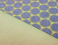 Неопрен двосторонній жовтого кольору з сірими сонечками/сніжинками BX 5, фото 1
