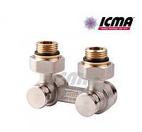 Icma Двухтрубный вентиль для панельного радиатора угловой 1/2 №884