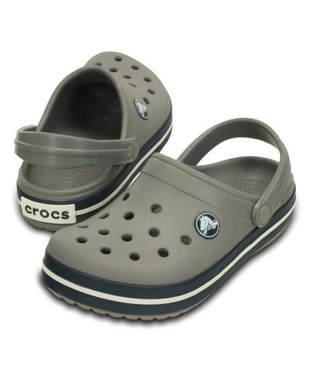 Детские Crocs серые унисекс US c8 с9 EUR 24 26 сабо Кроксы оригинал клоги