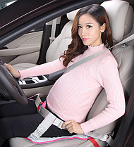 Адаптер ремня безопасности для беременных. Темно-серый.