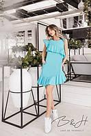 Платье - диагональная оборка
