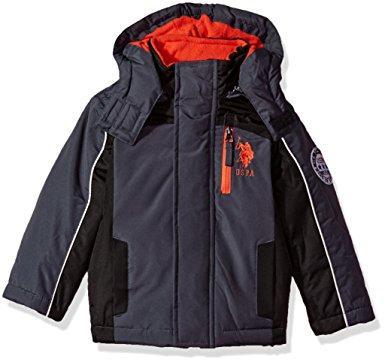 Детская куртка U.S. Polo Assn серая размер 2Т 81-90 см