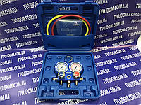 Манометрический коллектор VALUE VMG-2 R-22-B (R-404,407,22,134) шланги по 90см. (чемодан)