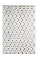 Высоковорсный ковёр с графическим узором Vivica 225 Weiß / Taupe, Белый; темно-серый, 160 см x 230 см, 4.784