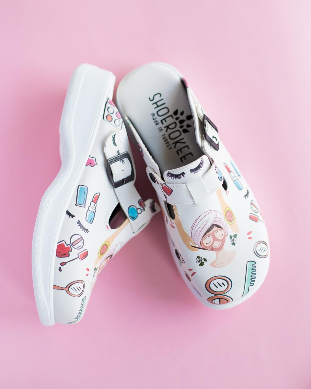 Обувь сабо на платформе с принтом BEAUTY AESTHETIC