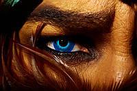 Цветные Синие линзы Crazy 2