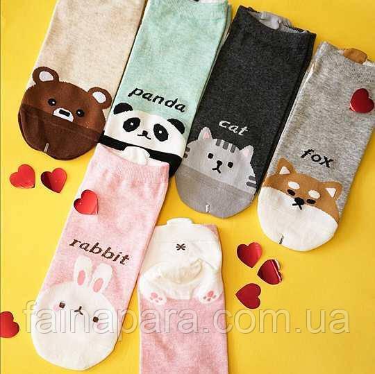 Короткие носки с забавными животными Aura Via