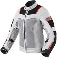 Мотокуртка женская текстиль Revit Tornado 3 серый/черный, 40