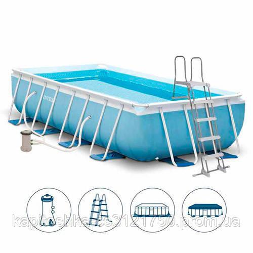 Каркасный бассейн Intex. ДхШхВ: 488х244х107 см. Трехслойный ПВХ. Оцинкованные стальные трубы. Вес: 88.7 см
