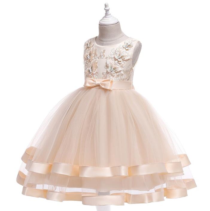 Нарядное бальное платье капучино с бабочками.   Elegant ball gown на девочку 5-12 лет