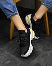 Женские Кроссовки MS Sneakers Black White 1000-1, фото 3