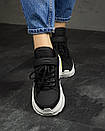Женские Кроссовки MS Sneakers Black White 1000-1, фото 6