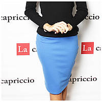 Трикотажная юбка- карандаш, голубая, Evro,Турция, фото 1