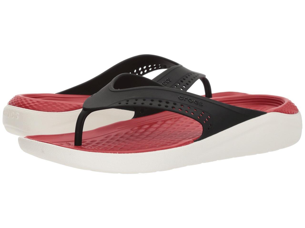 Вьетнамки мужские Crocs LiteRide М11 М12 М13 EUR 45 46 47 48 49 сланцы оригинал Крокс США шлёпанцы с массажем