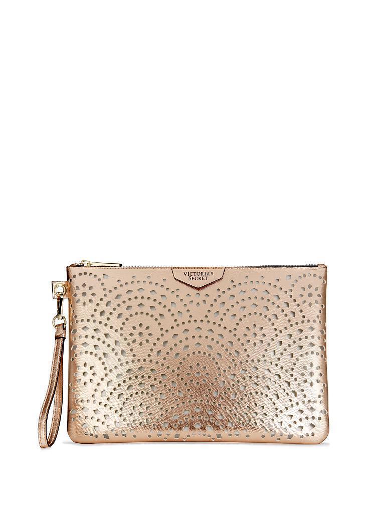 Бежевый клатч Victorias Secret Оригинал Виктория Сикрет кошелек сумочка косметичка