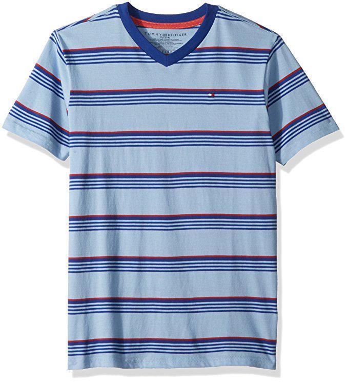 Футболка мужская Tommy Hilfiger подростковая голубая размер XS оригинал