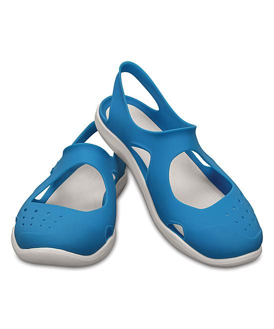 Сандалии Crocs женские голубые EUR 36 37 US W6 Кроксы США