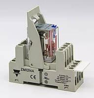 Реле електромагнітне 2 CO, 10 А, живлення 230 VAC + колодка + кліпса-виштовхувач + маркувальна табличка