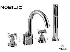 Смеситель для ванны Nobili Spring на 4 отверстия SP57001/6 CR (Италия)