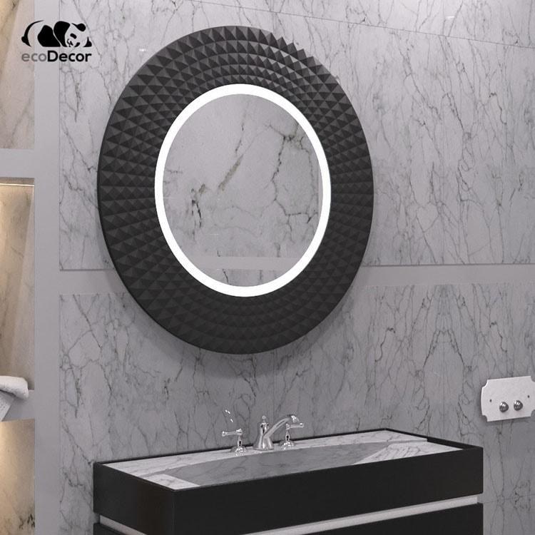 Зеркало в ванную черное Madrid K2