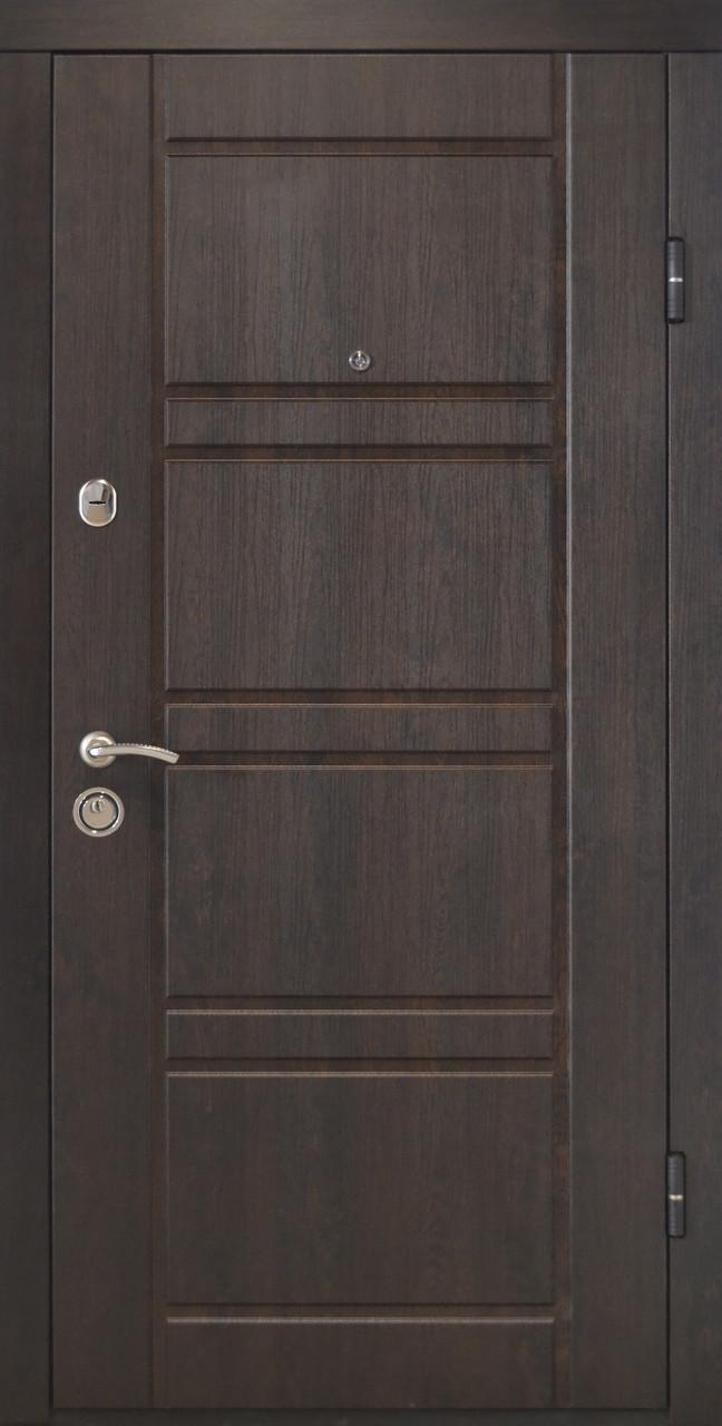Дверь входная «Министерство Дверей»— ПО-09. Венге структурный/Дуб беленый