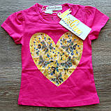Детская красивая футболочка СЕРДЕЧКО размеры 1-2 и 2-3, фото 4