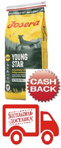Сухий беззерновой корм Josera Young Star для цуценят середніх і великих порід від 8 тижнів 15 кг