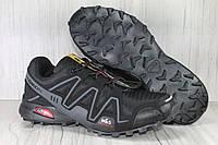 Мужские черные кроссовки в стиле Salomon