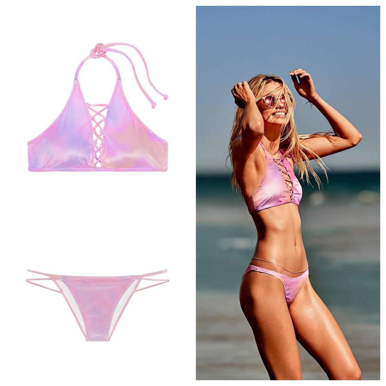 Хит Вельветовый купальник Victorias Secret розовый XS S M L Виктория Сикрет ПИНК XS