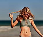 Хит Вельветовый купальник Victorias Secret хаки XS S M Виктория Сикрет ПИНК XS, фото 4