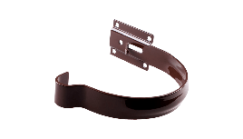 Держатель желоба Profil Д=130мм металл короткий, цветкоричневый