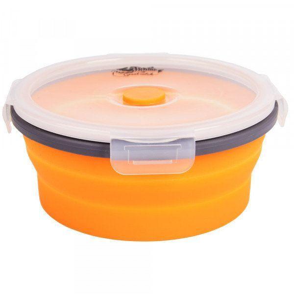 Контейнер складной силиконовый с крышкой-защелкой Tramp (550ml) orange