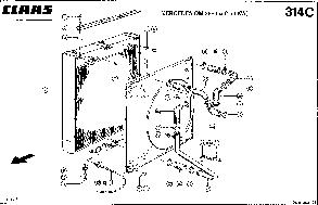 Радиатор водяной для комбайна Claas Dominator 108 SL MAXI, фото 2