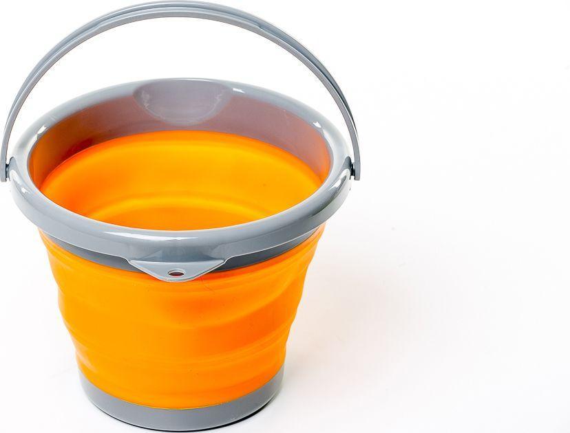Складное силиконовое походное ведро Tramp 5L orange