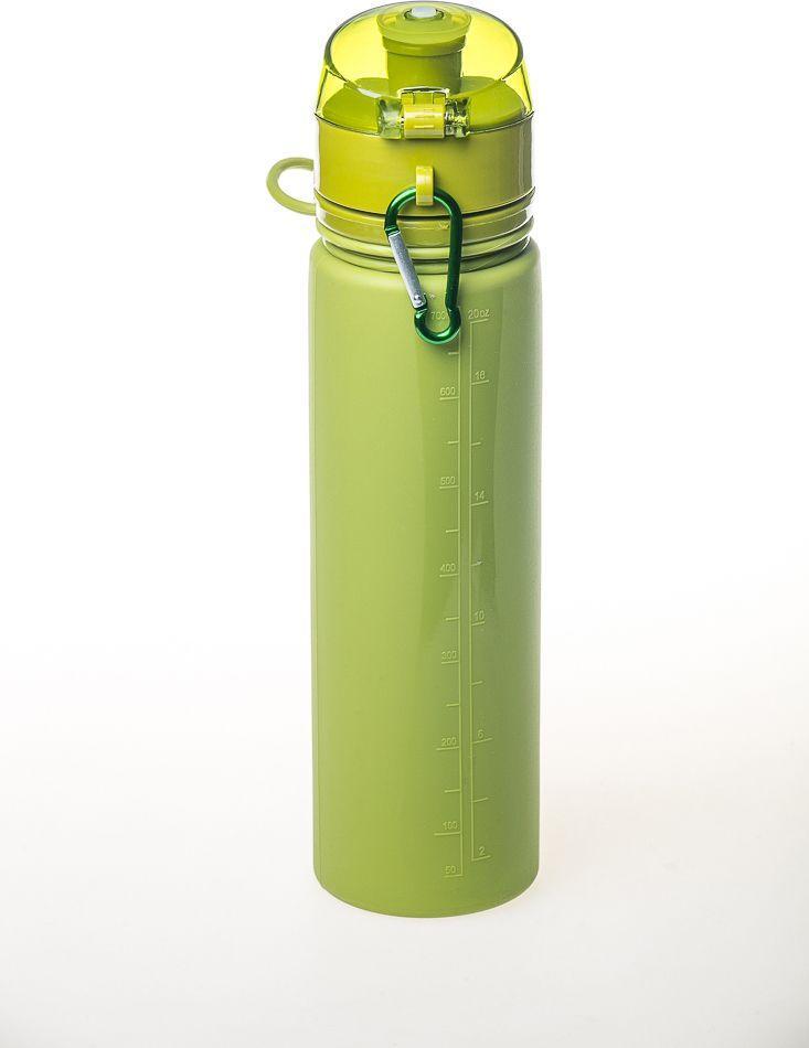 Бутылка силиконовая спортивная Tramp 700ml olive