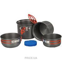 Набор туристической посуды анодированной на 1-2 персоны Tramp TRC-075