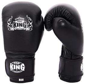 Перчатки для бокса кожанные Top King