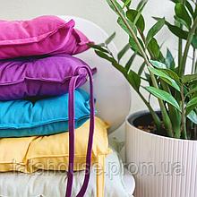 Однотонные подушки на стул, 40х40 см (цвета в ассортименте)
