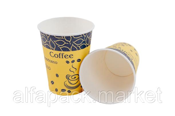 """Стакан бумажный 430мл """"Чай, кофе"""" (25 шт в рукаве) 061460026"""