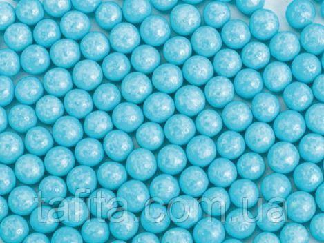 Шары глянцевые голубые 5 мм 50 г.