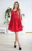 Шикарное платье гипюр Santali Украина S Красный романтический