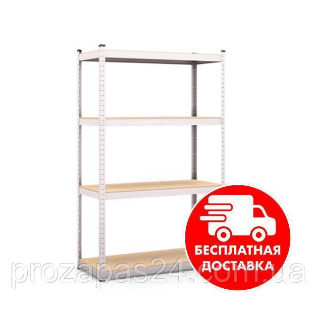 Стеллаж металлический 1650х1200х300мм 4полки полочный для дома, склада, магазина