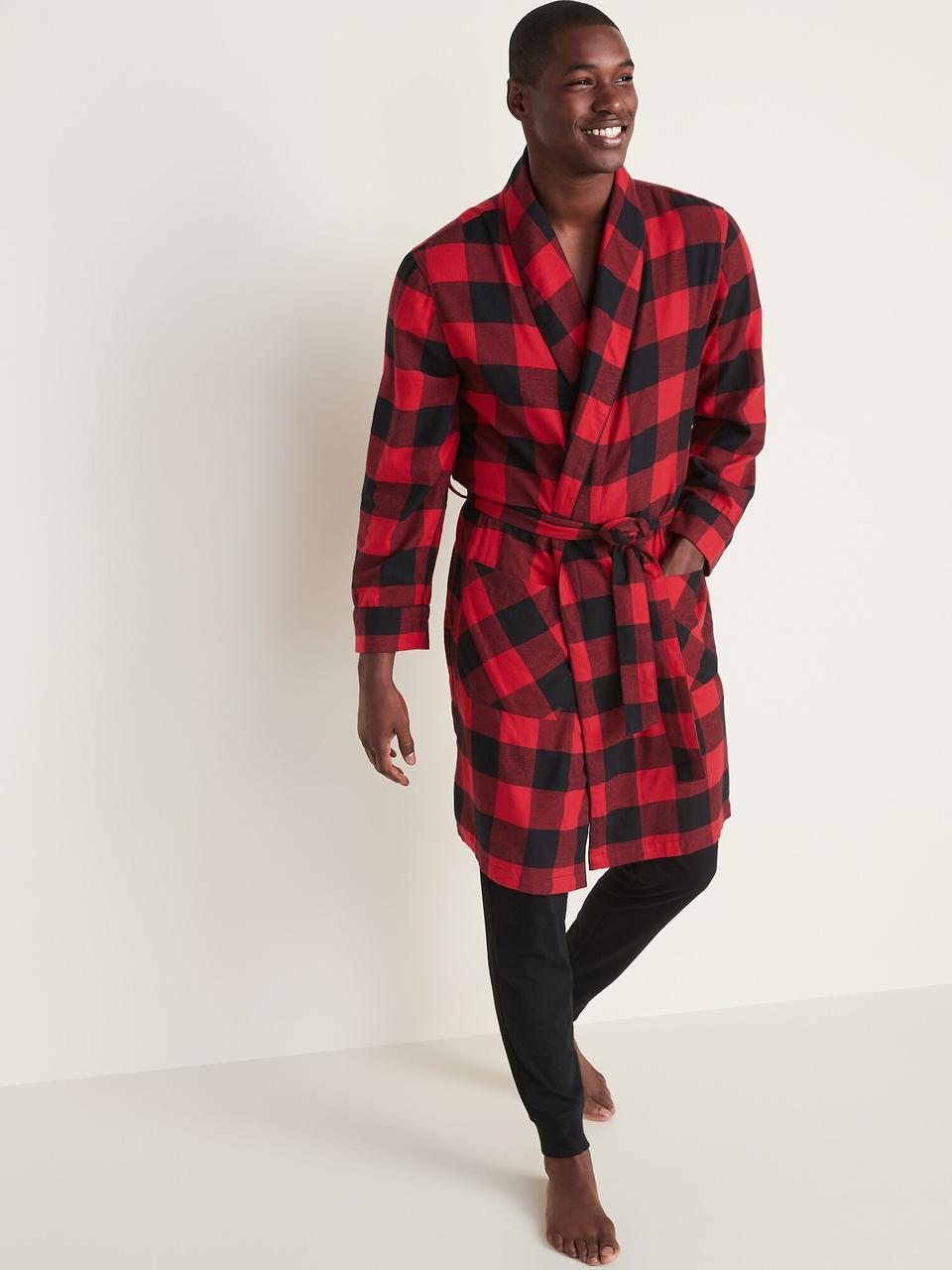 Мужской фланелевый домашний халат Old Navy халаты мужские для дома Олд Неви S/M